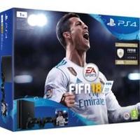 Sony PlayStation 4 1TB Fifa 18 Ronaldo Edition 1000GB WLAN Schwarz (Schwarz)