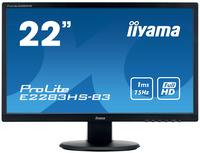 iiyama ProLite E2283HS-B3 21.5Zoll Full HD TN Matt Schwarz Flach Computerbildschirm LED display (Schwarz)