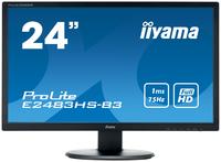 iiyama ProLite E2483HS-B3 24Zoll Full HD TN Matt Schwarz Flach Computerbildschirm LED display (Schwarz)
