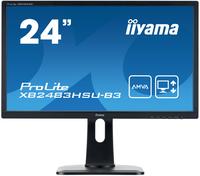 iiyama ProLite XB2483HSU-B3 23.8Zoll Full HD A-MVA Matt Schwarz Flach Computerbildschirm LED display (Schwarz)