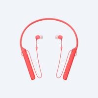 Sony WI-C400 Rot im Ohr im Ohr, Nackenband Kopfhörer (Rot)