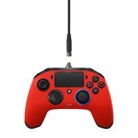 NACON PS4OFPADREVRED Gamepad PlayStation 4 Rot Spiele-Controller (Rot)