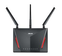 ASUS RT-AC86U Dual-Band (2,4 GHz/5 GHz) Gigabit Ethernet Schwarz WLAN-Router (Schwarz)