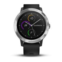 Garmin vívoactive 3 Touchscreen Bluetooth Schwarz, Silber Sportuhr (Schwarz, Silber)