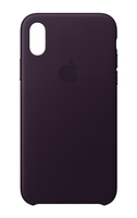 Apple MQTG2ZM/A 5.8Zoll Hauthülle Aubergine Handy-Schutzhülle (Aubergine)