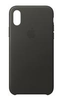 Apple MQTF2ZM/A 5.8Zoll Hauthülle Dunkelgrau, Grau Handy-Schutzhülle (Dunkelgrau, Grau)