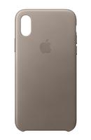 Apple MQT92ZM/A 5.8Zoll Hauthülle Graubraun Handy-Schutzhülle (Graubraun)