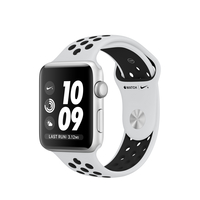 Apple Watch Nike+ OLED 32.3g Silber Smartwatch (Schwarz, Platin, Silber)