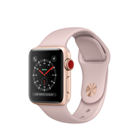 Apple Watch Series 3 OLED 28.7g Silber Smartwatch (Pink, Silber)