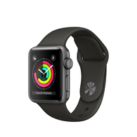 Apple Watch Series 3 OLED 26.7g Grau Smartwatch (Grau, Grau)