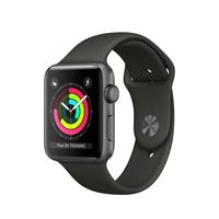Apple Watch Series 3 OLED 32.3g Grau Smartwatch (Grau, Grau)