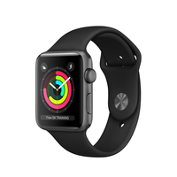 Apple Watch Series 3 OLED 32.3g Grau Smartwatch (Schwarz, Grau)