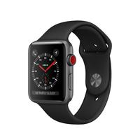 Apple Watch Series 3 OLED 34.9g Grau Smartwatch (Schwarz, Grau)