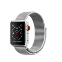 Apple Watch Series 3 OLED 28.7g Silber Smartwatch (Grau, Weiß, Silber)