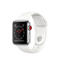 Apple Watch Series 3 OLED 42.4g Edelstahl Smartwatch (Weiß, Edelstahl)
