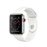 Apple Watch Series 3 OLED 52.8g Edelstahl Smartwatch (Weiß, Edelstahl)