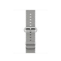 Apple MQVA2ZM/A Band Silber, Weiß Nylon Smartwatch-Zubehör (Silber, Weiß)