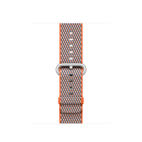 Apple MQVE2ZM/A Band Grau, Orange Nylon Smartwatch-Zubehör (Grau, Orange)