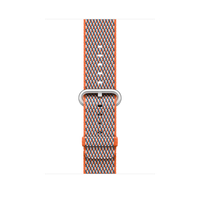 Apple MQVP2ZM/A Band Grau, Orange Nylon Smartwatch-Zubehör (Grau, Orange)