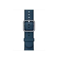 Apple MQV02ZM/A Band Blau Leder Smartwatch-Zubehör (Blau)