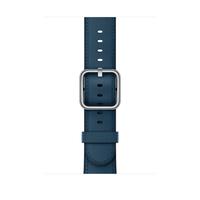 Apple MQV32ZM/A Band Blau Leder Smartwatch-Zubehör (Blau)
