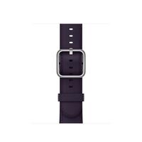 Apple MQV12ZM/A Band Aubergine Leder Smartwatch-Zubehör (Aubergine)