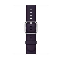Apple MQV42ZM/A Band Aubergine Leder Smartwatch-Zubehör (Aubergine)