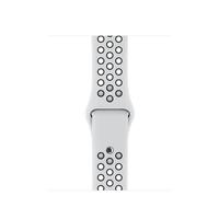 Apple MQWH2ZM/A Band Schwarz, Platin Fluor-Elastomer Smartwatch-Zubehör (Schwarz, Platin)
