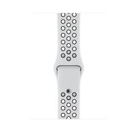 Apple MQWQ2ZM/A Band Schwarz, Platin Fluor-Elastomer Smartwatch-Zubehör (Schwarz, Platin)
