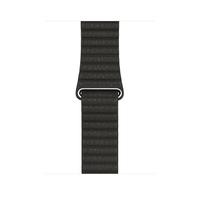 Apple MQV62ZM/A Band Dunkelgrau, Grau Leder Smartwatch-Zubehör (Dunkelgrau, Grau)
