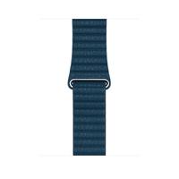 Apple MQV72ZM/A Band Blau Leder Smartwatch-Zubehör (Blau)