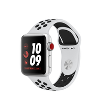 Apple Watch Nike+ OLED GPS Display diagonal Silber Smartwatch (Schwarz, Platin, Silber)