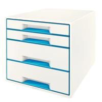 Leitz WOW Cube Polystyrol Blau, Weiß Box & Organizer zur Aktenaufbewahrung (Blau, Weiß)