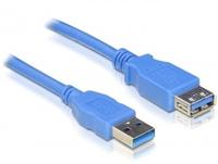 DeLOCK USB 3.0 male/female A/A - 3m (Blau)