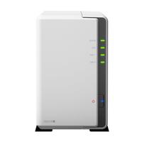 Synology DS218J NAS Kompakt Eingebauter Ethernet-Anschluss Weiß NAS & Speicherserver (Weiß)