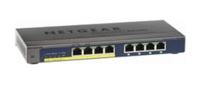 Netgear GS108PP ungemanaged Gigabit Ethernet (10/100/1000) Energie Über Ethernet (PoE) Unterstützung Schwarz (Schwarz)