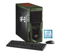 Hyrican Military Gaming 5640 3GHz i5-7400 Schwarz, Grün PC (Schwarz, Grün)