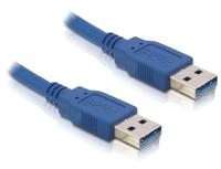 DeLOCK USB 3.0-A male/male - 2m (Blau)