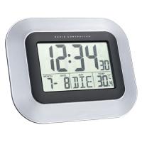 Technoline WS 8005 Radio controlled wall clock (Schwarz, Silber)