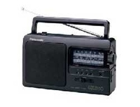 Panasonic RF-3500E9-K Tragbar Analog Schwarz Radio (Schwarz)