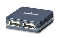 Manhattan Hi-Speed USB 2.0 Micro Hub (Schwarz)