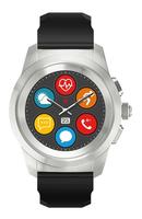 MyKronoz ZeTime 1.22Zoll TFT Schwarz, Silber Smartwatch (Schwarz, Schwarz, Silber)