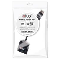 CLUB3D DisplayPort 1.2 auf HDMI 2.0 UHD Aktiver Adapter (Schwarz)