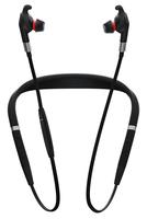 Jabra Evolve 75e Nackenband Binaural Verkabelt/Kabellos Schwarz Mobiles Headset (Schwarz)