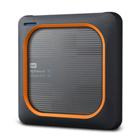 Western Digital My Passport Wireless SSD 2TB 2000GB WLAN Schwarz, Orange (Schwarz, Orange)