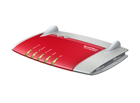 AVM FRITZ!Box 7390, DE ADSL WLAN Eingebauter Ethernet-Anschluss Dual-Band Rot, Silber (Rot, Silber)
