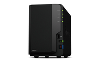Synology DiskStation DS218 NAS Desktop Eingebauter Ethernet-Anschluss Schwarz (Schwarz)