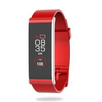 MyKronoz ZeFit4 HR Wristband activity tracker 1.06Zoll TFT Kabellos IP67 Rot, Silber (Rot, Silber)