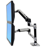 Ergotron LX Series Dual Stacking Arm (Silber)