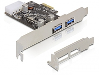 DeLOCK 2x USB 3.0 PCI Express card (Schwarz)